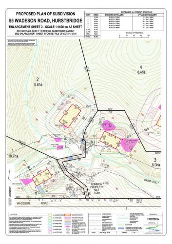 Proposed Plan of Subdivision – 55 Wadeson Road, Hurstbridge